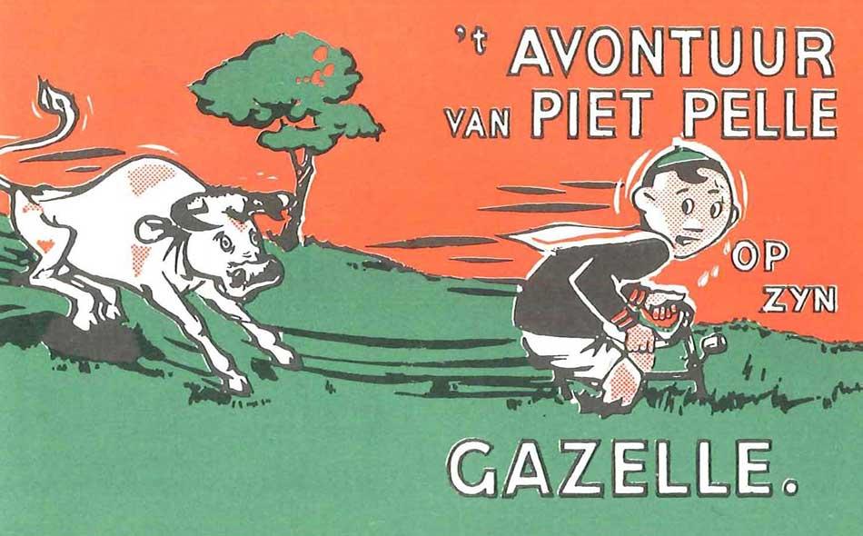 `t avontuur van Piet Pelle op zijn gazelle Geschiedenis Gazelle.nl