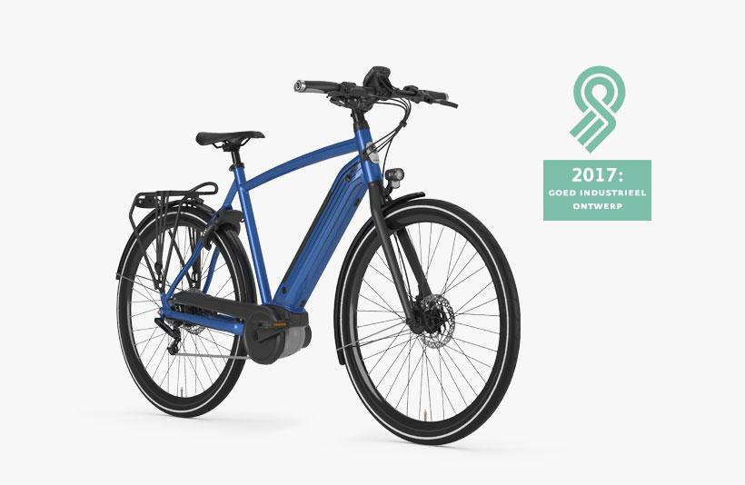 De CityZen C8+ HMB is de lichtste elektrische Gazelle. Met zijn Bosch middenmotor heeft deze fiets een bereik van 180 kilometer.