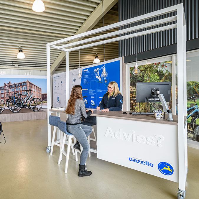Test je Gazelle-fiets bij een Experience Center